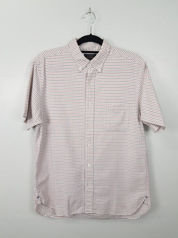 Beams Japan Red and Blue Checkered Short Sleeves