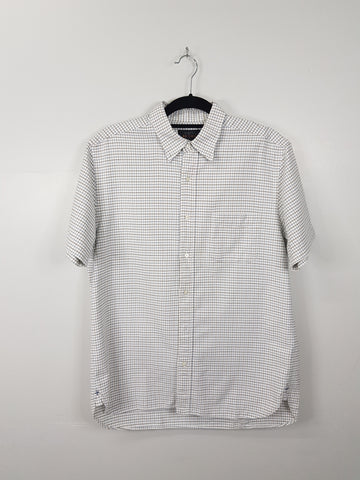 Beams Japan Blue and Black Checkered Short Sleeves