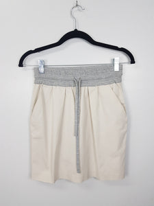 Zara Tan and Grey Athletic Skirt