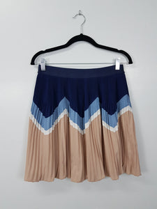 Jumel Blue and Beige Skirt