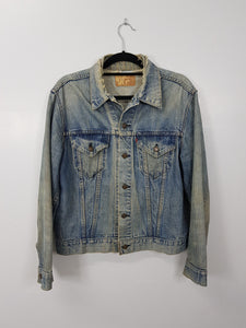 Levis Blue ripped denim Jacket