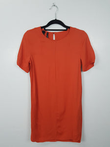 Mango Suit orange short sleeve dress