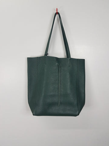 Borse In Pelle Green Leather Bag