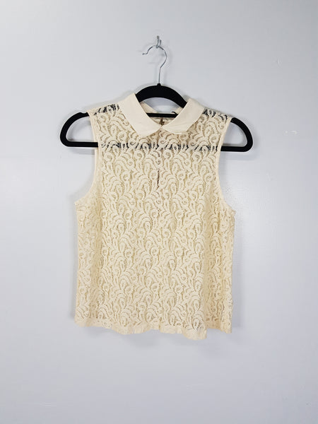Topshop Lace Sleeveless Top