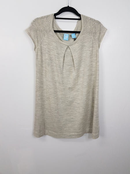 Coop gray with small sequence dress