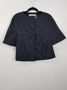 Marni Black Jacket with 3/4 Sleeves