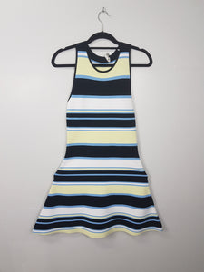 ALC black with blue yellow stripes sleeveless dress