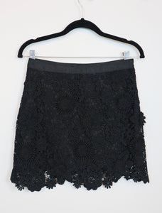 Topshop black crochet design skirt