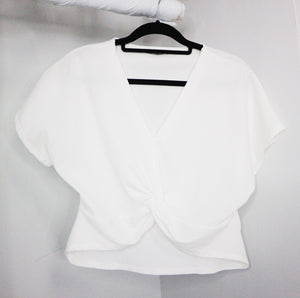 Zara white sleeveless crop