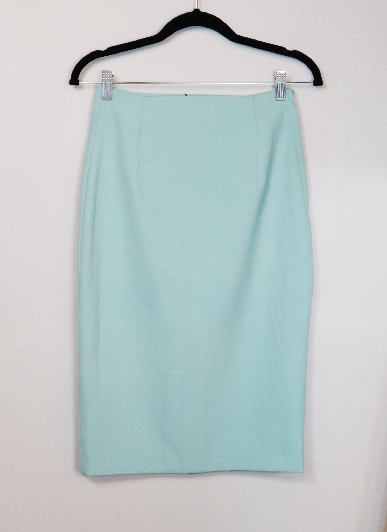 Aivee Pastel Green Pencil Skirt