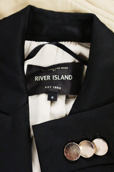 River Island black silk with padding jacket