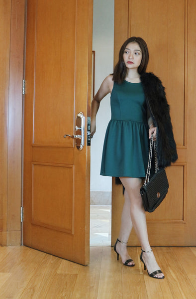 H&M green sleeveless dress