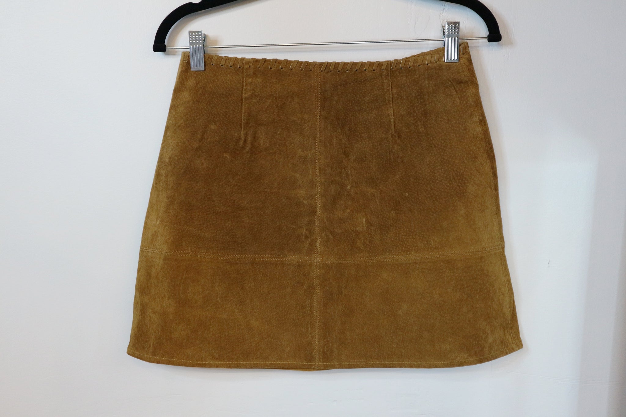 Zara brown suede skirt