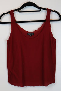 fbf6b98cb7eef3 Topshop Red Sleeveless Blouse – Threads PH