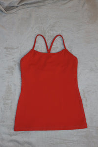 Lululemon Orange Sleveless Athletic Top