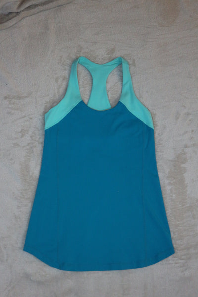 Lululemon Blue sleeveless Atheltic Top