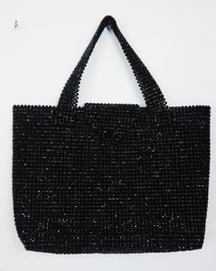 NA black shiny beaded bag