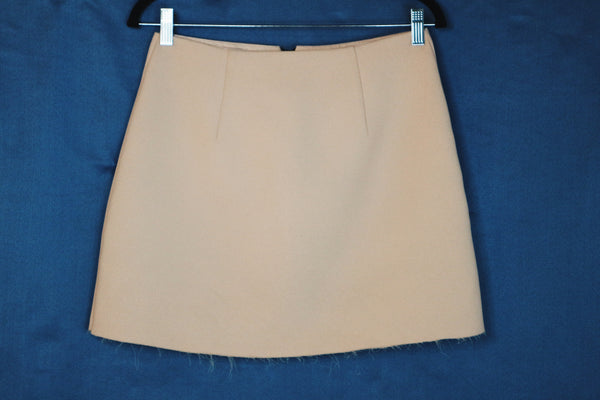 Topshop orange with zipper infront skirt