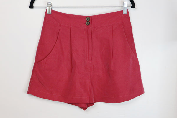 Topshop Red High Waist Shorts