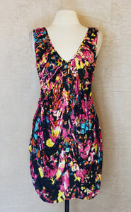 Rosanna Ocampo Pink Sleveless Dress with watercolor print