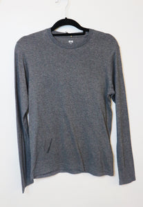 UniQlo grey supima cotton for men long sleeve shirt
