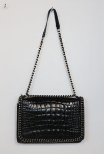 Zara black with chain on the side design bag