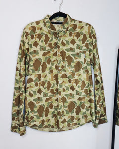 Carhartt Brown Collared Blouse with Camo Design