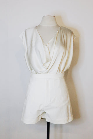 Lanvin White Silk SLeeveless Blouse