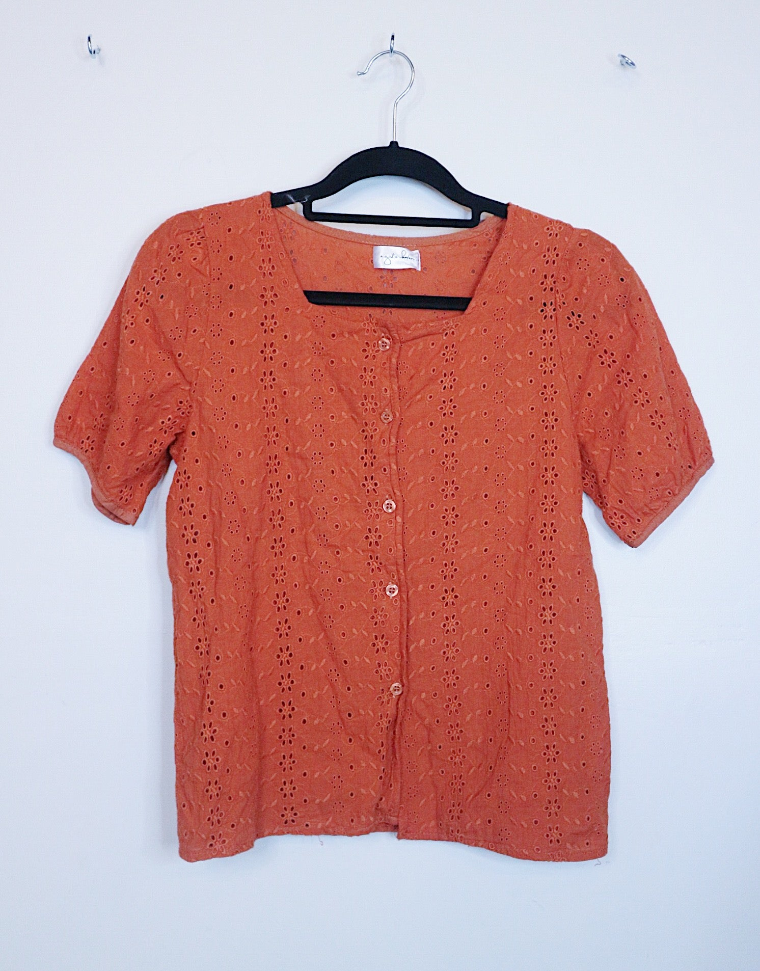 A Girl's Haven orange eyelet top