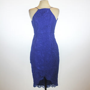 Ever New Blue Halter Lace Dress