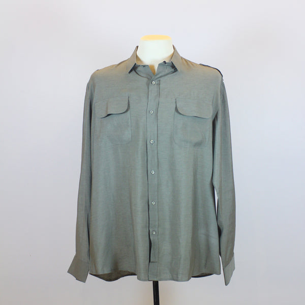 Rajo Laurel Green Long Sleeve Polo with Front Pocket