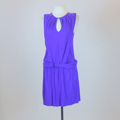 Hoss Purple Sleeveless Dress with Matching Belt