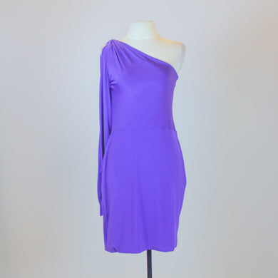 Martin Bautista Purple One Shoulder Dress