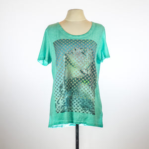 David Naman Green Shirt with Polka print