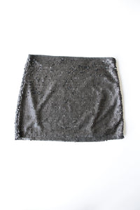 Zara Muted Black Sequined Skirt