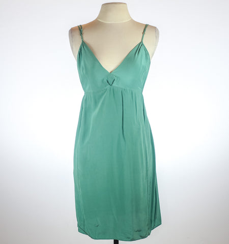 Cynthia Vincent Green Slip Dress