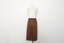 Macy's Copper Gold Pencil Skirt