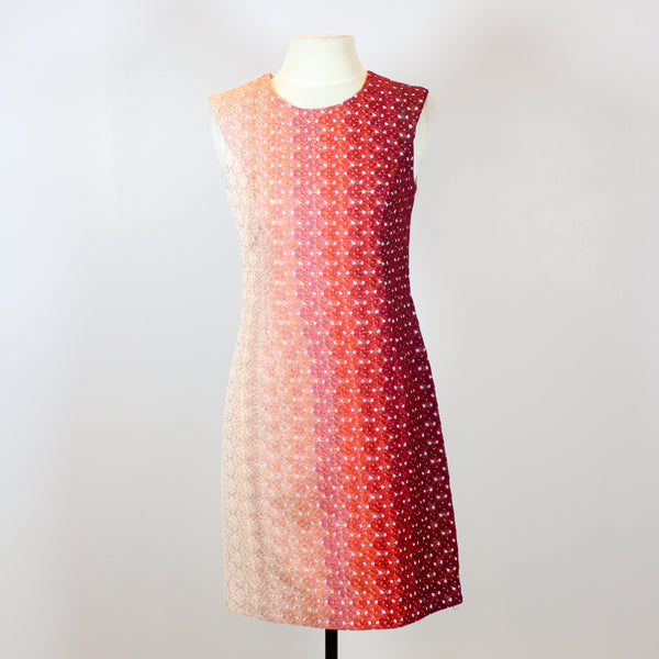 Missoni Peach Midi Dress with Different Shades of Red in Front