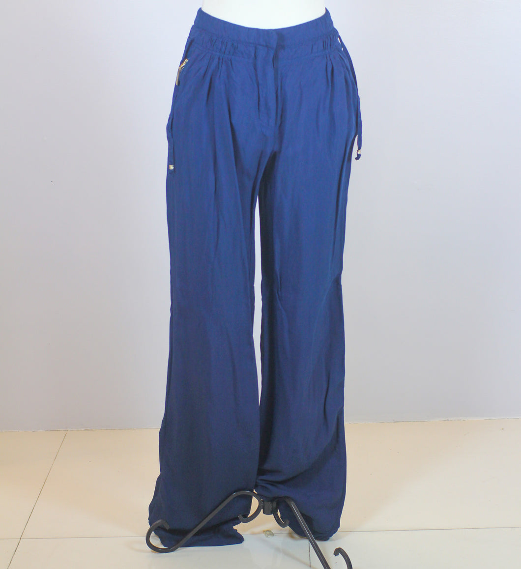 Roberto Cavalli Blue Wide Leg Pants