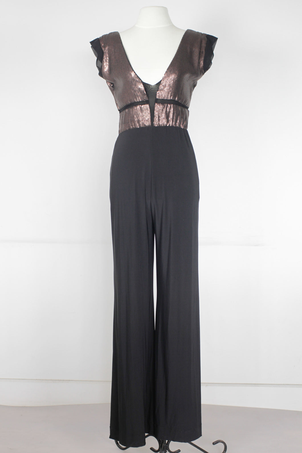 Rosanna Ocampo Metallic and Black Jumpsuit