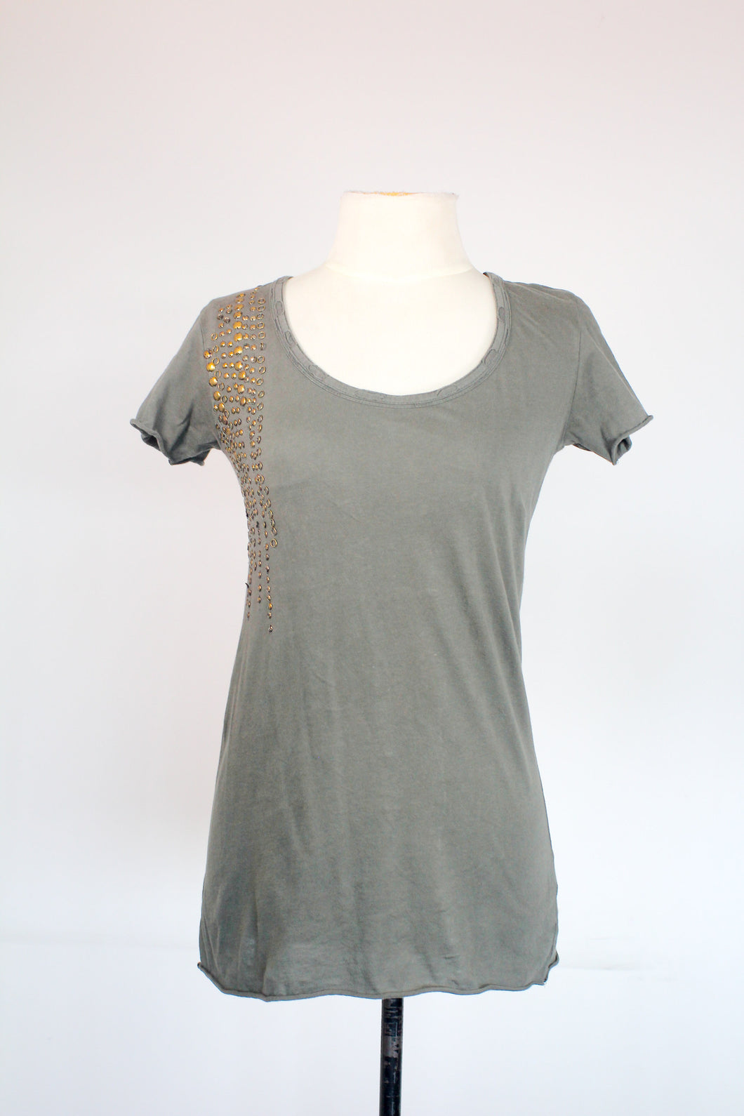 Zara Army Green Shirt with Metal Rivets