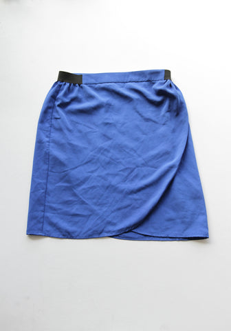 E= Blue Mini Skirt