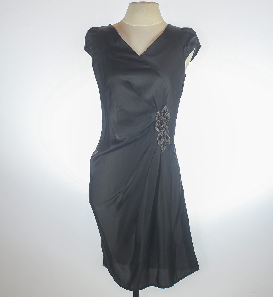 BCBG Black Satin Dress