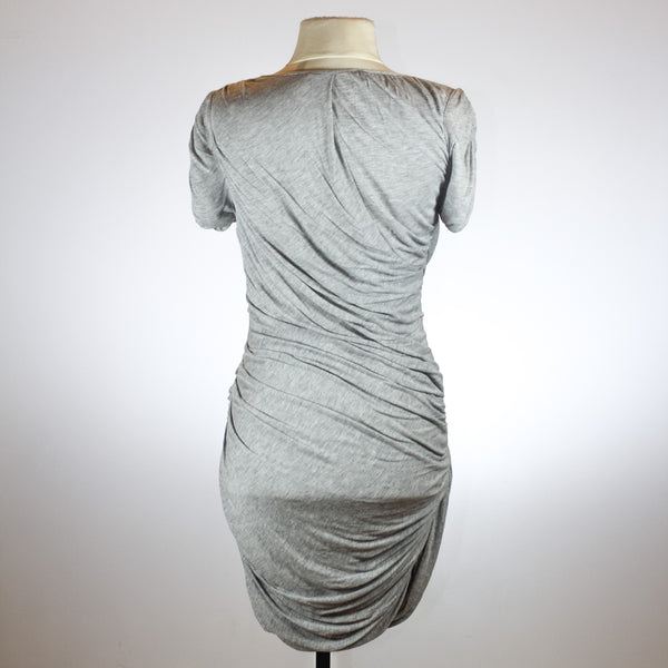 Diane von Furstenberg Grey Ruched Dress with Silk Lining