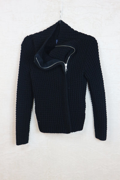 Gap black crochet sweater