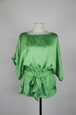 New York & Company Apple Green Blouse with Belt