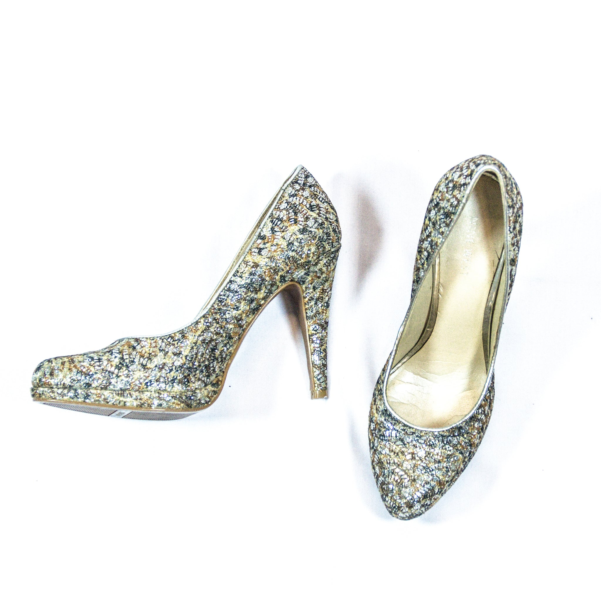 Nine west Silver Pumps with glitter details
