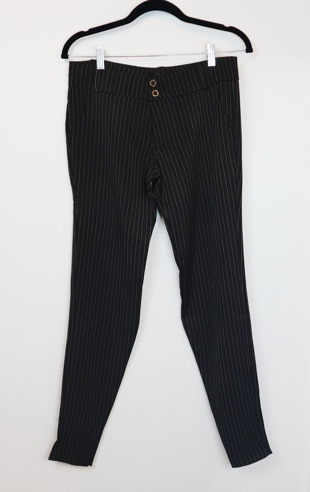Pierre Marie Black Trousers with Stripes