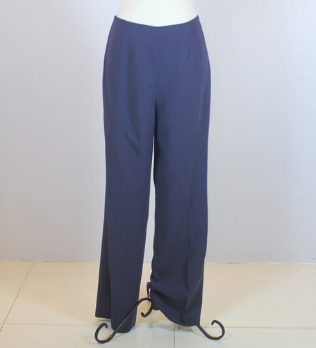 Richard Tyler Blue Straight Cut Trousers