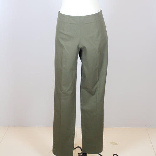 Theory Olive Green Slim Cut Trousers